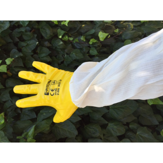 Gloves plastic double layer yellow