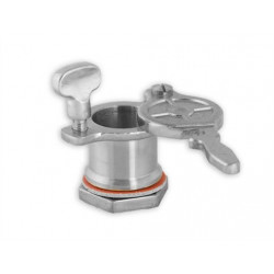 Cannula honey metal with plastic flange