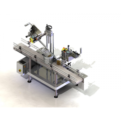 Labeling machine for large packagings