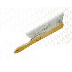 Large wooden brush with natural bristles
