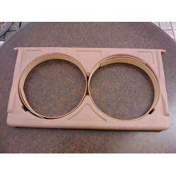 Plastic frame for round die
