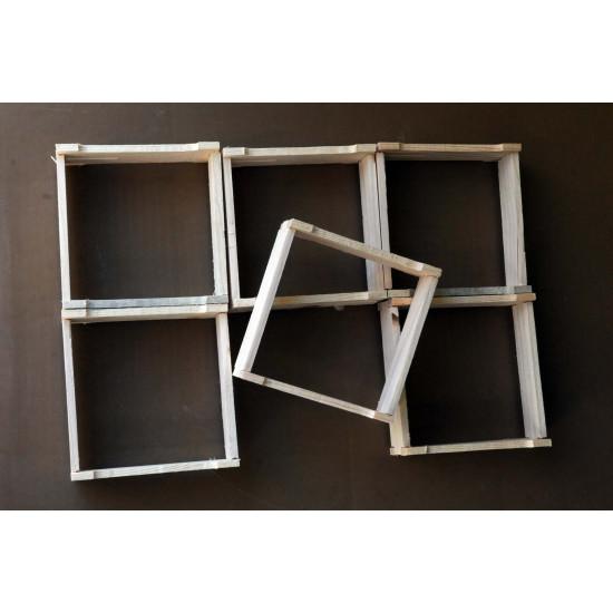 Frames squares honey comb