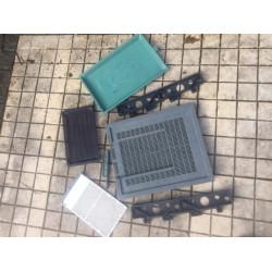 Plastic bottom versatile ventilated drawer
