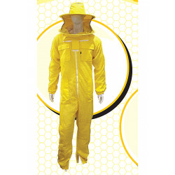 Full body beekeeping mask aerated yellow